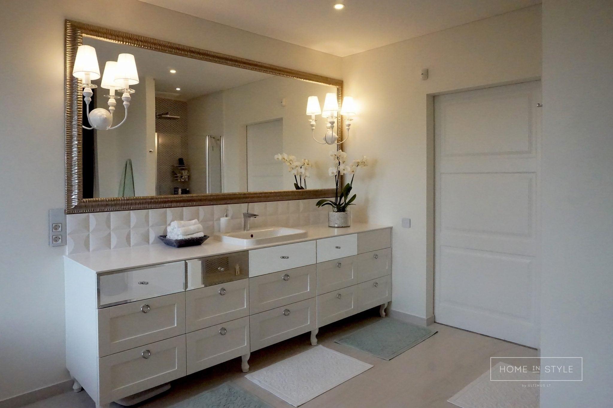 Interjero projektai vonios kambario baldai