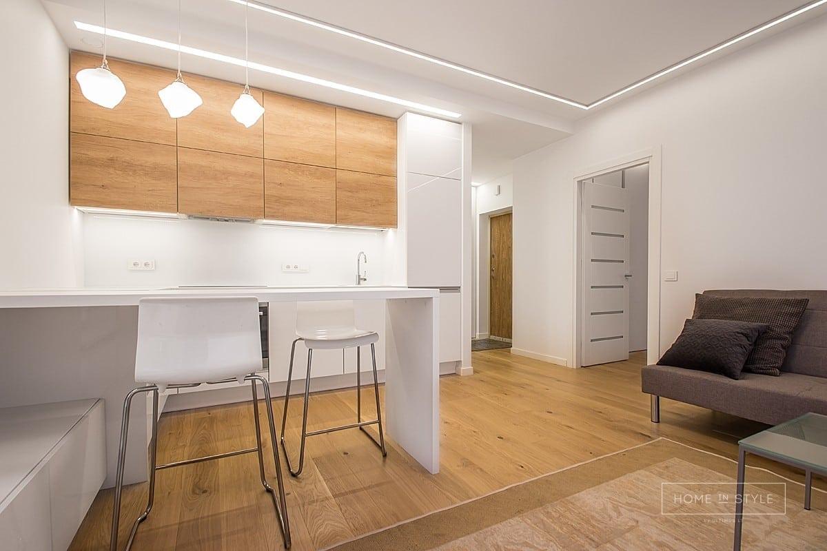 Interjero projektai virtuves baldu sprendimai