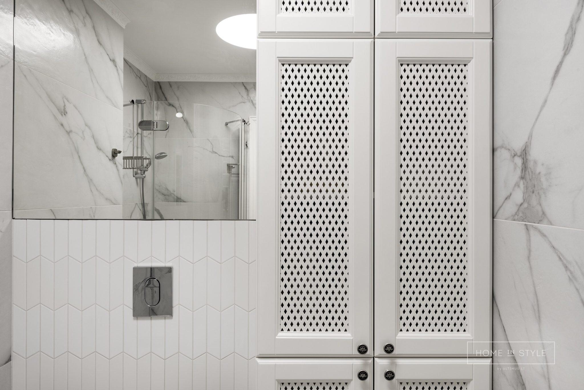Klasikinis interjeras vonios kambario baldu gamyba