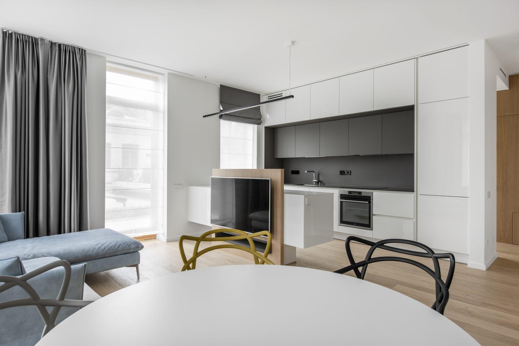 Baldu gamyba modernus virtuves baldai Zverynas