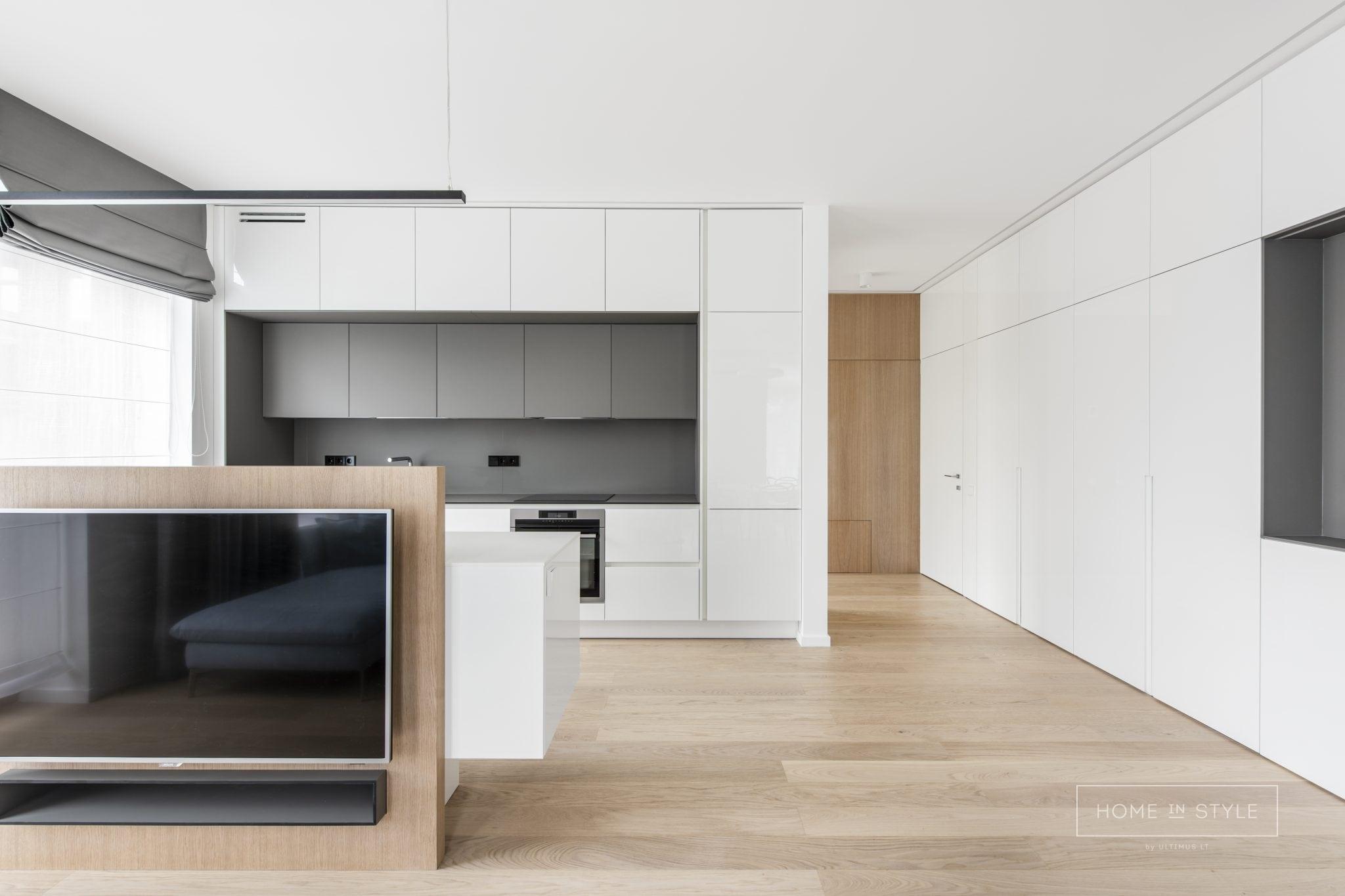 Baldu gamyba modernus virtuves baldai