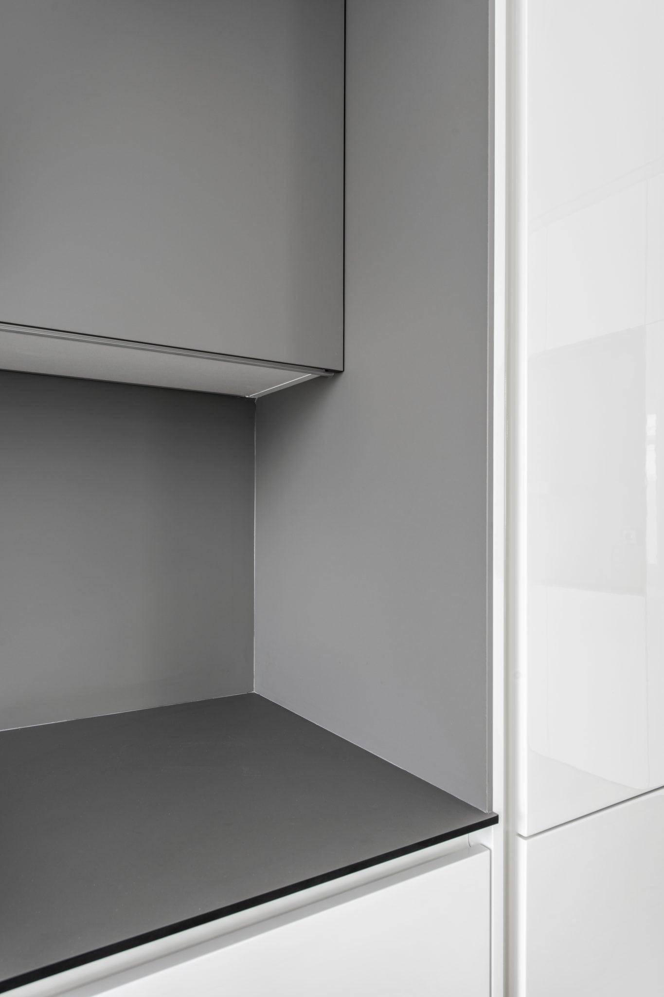 Individualiu baldu gamyba balta virtuve Zverynas